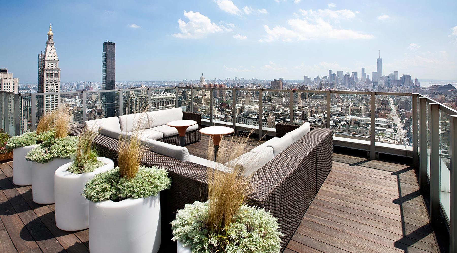 Roof Deck   View Over Downtown Manhattan